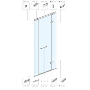 Распашная дверь для душевой кабины B01