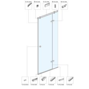 Распашная дверь для душевой кабины B05