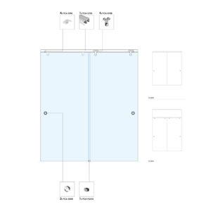 Система с раздвижными дверьми B2000