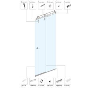 Раздвижная дверь для душевой кабины SA01