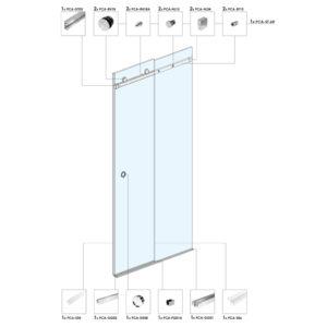 Раздвижная дверь для душевой кабины ST01
