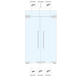 Распашные двери с фрамугой для перегородки WR103