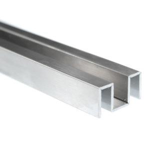 Алюминиевый профиль П-образный опорный для стекла 6 мм PCA GG02