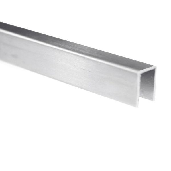 алюминиевый профиль П-образный опорный для стекла 8 мм PCA GG04