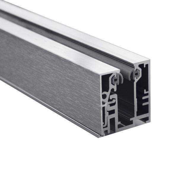 Мощный зажимной алюминиевый профиль для перегородок. Без монтажных клипс GG06