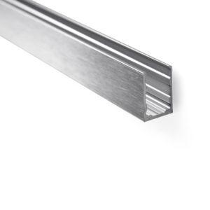 Купить алюминиевый профиль П-образный опорный для стекла 8-10 мм PCA GG09