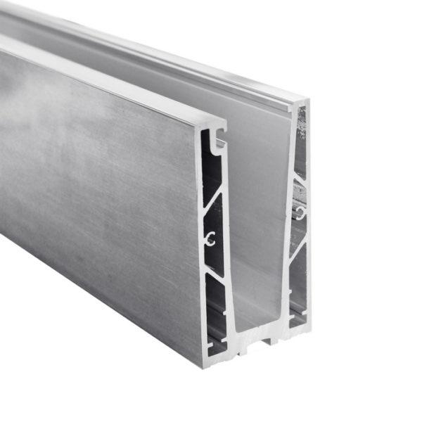 Профиль для стеклянных лестничных ограждений GM01 c толщиной стекла 12,16,20 мм