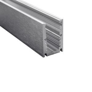 Профиль для стеклянных ограждений 65х44 мм c толщиной стекла 10 или 12 мм GM01A