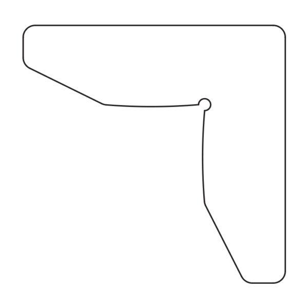 Уголок для дверной коробки GTI