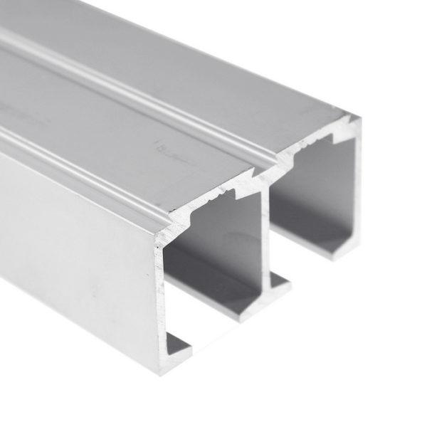 Профиль алюминиевый для раздвижной системы двойной трек GT05