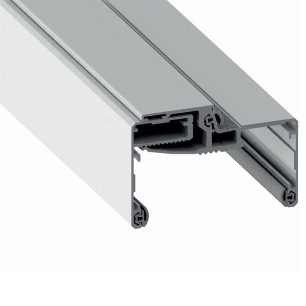 Алюминиевая телескопическая коробка для стеклянных дверей ширина проема 75-105 мм PCA GT09