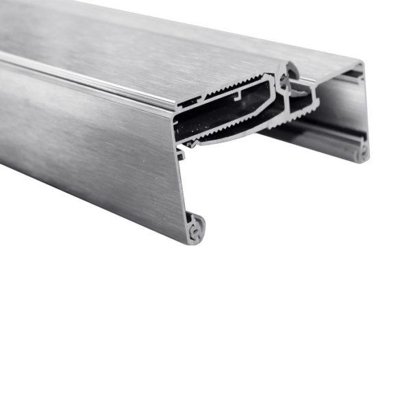 Алюминиевая телескопическая коробка для стеклянных дверей ширина проема 100-130 мм GT10