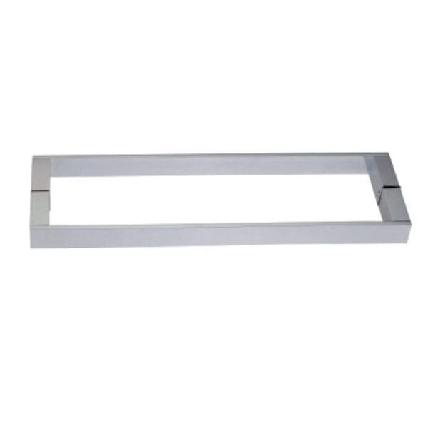 Дверная ручка с полотенце-держателем квадратного сечения 25х15 мм HS08