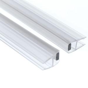 Профиль уплотнительный 180 градусов магнитный ПВХ для стеклянной душевой кабины S10