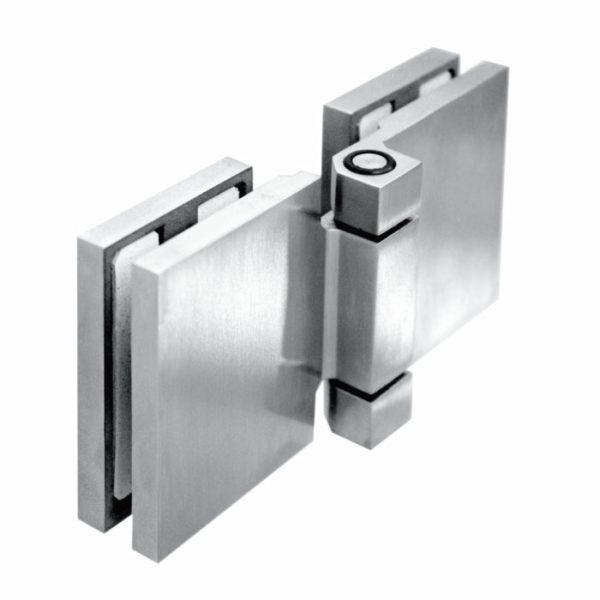 Петля стекло-стекло 180 градусов вертикальная нерж сталь 304 SH48