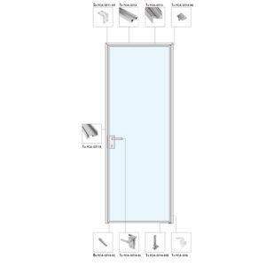Распашная дверь A23