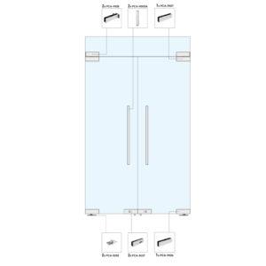 Распашные двери с фрамугой для перегородки WR203