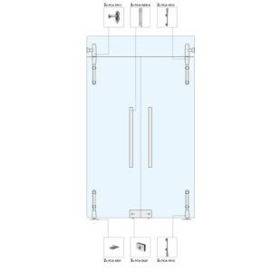 Распашные двери с фрамугой для перегородки WS103