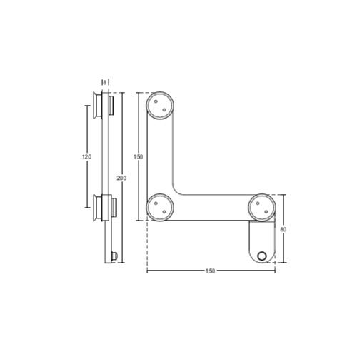 Фитинг угловой, соединитель панелей со стопором, FС10