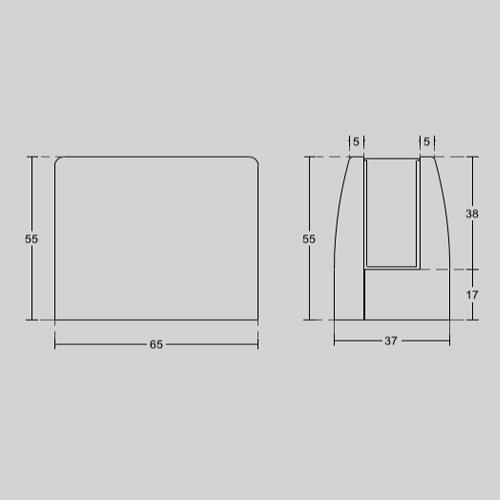 Коннектор для ограждений из стекла, толщина стекла 16 мм, GC25A