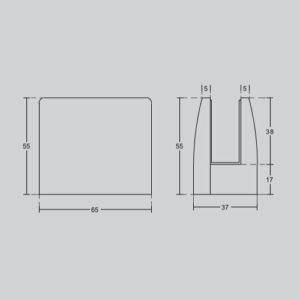 Коннектор (держатель стекла) для ограждений, GC25