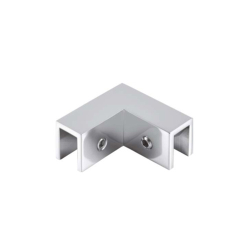 Коннектор регулируемый без вырезов в стекле 90 градусов, стекло-стекло, GC44