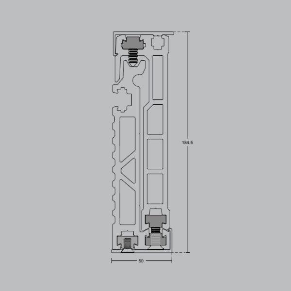 Профиль для стеклянных ограждений 184,5х50 мм GM07