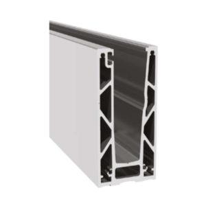 Профиль для стеклянных ограждений с Led подсветкой 118х61 мм GM08