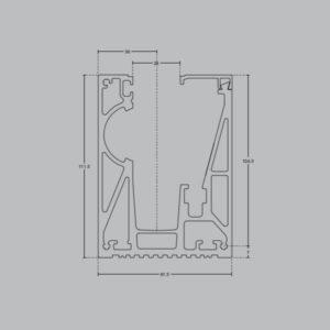 Профиль для стеклянных ограждений GM10