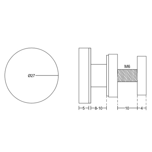 Держатель стекло-труба для душевой раздвижной системы, HL39