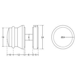 Опора ограничитель на плоскую трубу для душевой раздвижной системы, RH18B