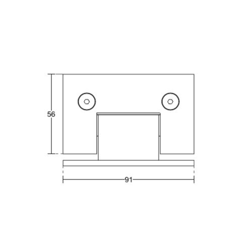 Петля стена-стекло, одностороннее крепление, (Brass-Латунь), SH53