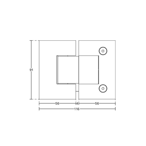 Петля стекло-стекло 180 градусов, (Brass-Латунь), SH54