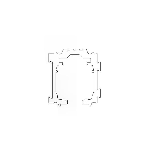 Профиль алюминиевый раздвижной системы, GT40-1